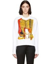 Dsquared2 White Graphic Print Diana Sweatshirt