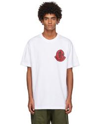 Moncler Genius 2 Moncler 1952 White Logo T Shirt