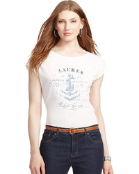 Lauren Ralph Lauren Anchor Print Graphic T Shirt
