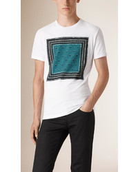 Burberry Bandana Print Cotton T Shirt