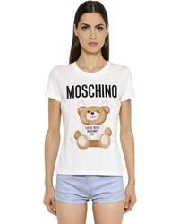 Moschino Bear Printed Cotton Jersey T Shirt