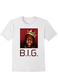 Big Biggie Notorious Rapper Printed T Shirt With Crown