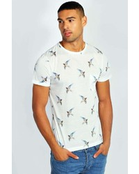 Boohoo Bird Print T Shirt