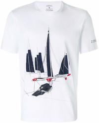 Z Zegna Boat Print T Shirt