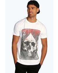 Boohoo Skull Print T Shirt