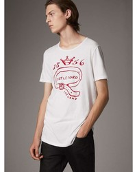 Burberry Castleford Print Cotton T Shirt