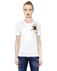 Dsquared2 Cat Polka Dot Printed Cotton T Shirt