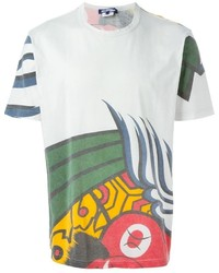 Comme des Garcons Junya Watanabe Comme Des Garons Man Abstract Print T Shirt