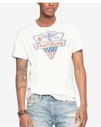 Denim & Supply Ralph Lauren Cotton Jersey Graphic Crew Neck T Shirt