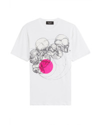 DSQUARED2 Cotton T Shirt With Skull Print