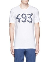 Denham Jeans Denham 493 Print Cotton T Shirt