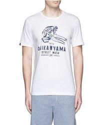 Denham Jeans Denham Daikanyama Print Cotton T Shirt