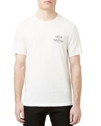 Topman Deus Spes Nostra Graphic Crewneck T Shirt