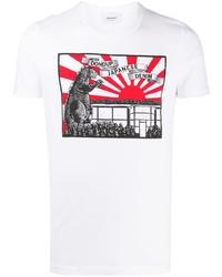 Dondup Dinosaur Print T Shirt