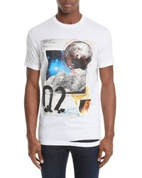 DSQUARED2 Distressed Graphic Crewneck T Shirt