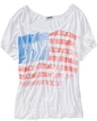 Old Navy Drapey Flag Graphic Tees