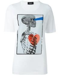 Dsquared2 Skeleton Print T Shirt