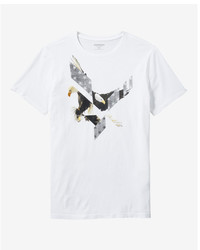 Express Eagle Cotton Crew Neck Graphic Tee