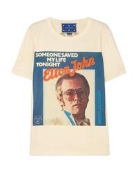 Gucci Elton John Printed Cotton Jersey T Shirt