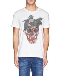 Alexander McQueen Feather Skull Print T Shirt