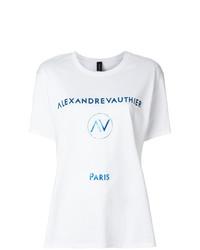 Alexandre Vauthier Foil Logo T Shirt