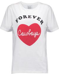 Zoe Karssen Forever Cowboy Printed Cotton Jersey T Shirt