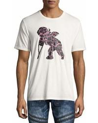 PRPS Frisbee Cherub Logo Print T Shirt White