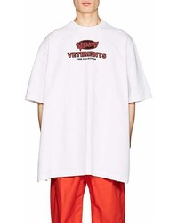 Vetements Graffiti Logo Print Cotton Oversized T Shirt