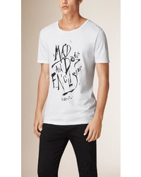 Burberry Graphic Print Cotton T Shirt