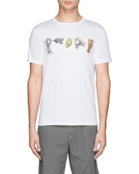 Paul Smith Jeans Gasmask Print Organic Cotton T Shirt