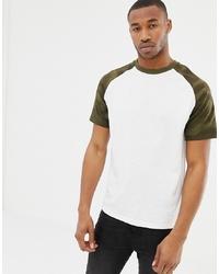 Pull&Bear Join Life Raglan T Shirt In Camo