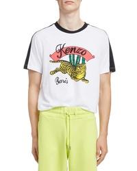 Kenzo Jumping Tiger Graphic T Shirt