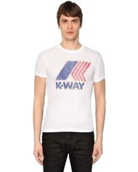 DSQUARED2 K Way Printed Cotton Jersey T Shirt
