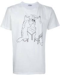 Kitsune Kitsun Tee Fox Print T Shirt
