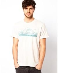 Lee T Shirt Denim Ice Print Slub