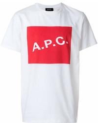 A.P.C. Logo Print T Shirt