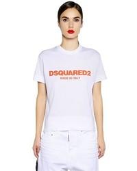 Dsquared2 Logo Printed Cotton T Shirt