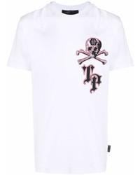 Philipp Plein Logo Skull Print T Shirt