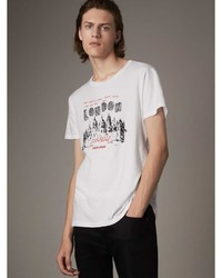 Burberry London Skyline Print Cotton T Shirt