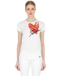Love Moschino Cotton Jersey T Shirt