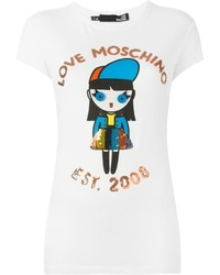 Love Moschino Doll Print T Shirt