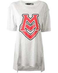Love Moschino Logo Print Asymmetrical T Shirt