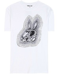 McQ by Alexander McQueen Mcq Alexander Mcqueen Bunnny Be Here Now Printed Cotton T Shirt