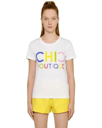 Moschino Chic Boutique Cotton Jersey T Shirt