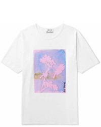 Acne Studios Nave Flower Printed Cotton Jersey T Shirt