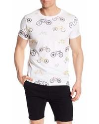 Noize Crew Neck Short Sleeve Bicycle Print Tee