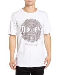 Obey Under Pressure Graphic Crewneck T Shirt