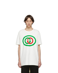 Gucci Off White Interlocking G T Shirt
