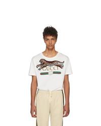 Gucci Off White Leopard T Shirt