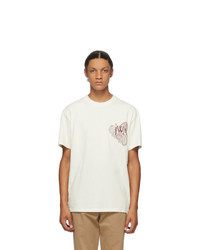 JW Anderson Off White Paisley Logo T Shirt